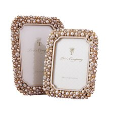2 Piece Timeless Crystals and Pearls Picture Frame Set