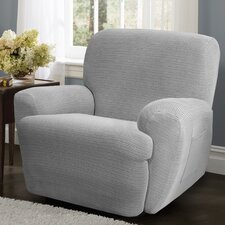 Connor 4 Piece Stretch Polyester Recliner Slipcover Set