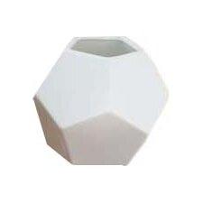 Faceted Silver Vase