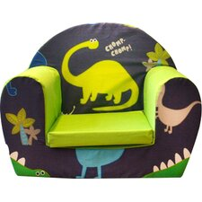 Dino in the Dark Children's Foam Chair