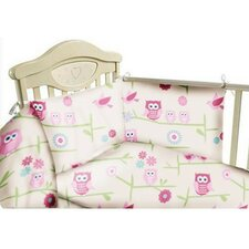 Owls 3 Piece Cot Bedding Set
