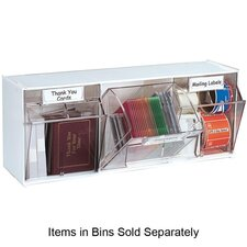 Interlocking 3-Compartment Tip-Out Bin