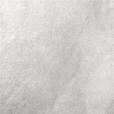 """St Moritz II 12"""" x 12"""" Porcelain Field Tile in Silver"""