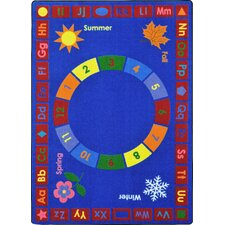 Learning Time Blue Area Rug