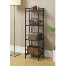"Edwin 4 Tier Folding Shelf 45"" Etagere Bookcase"