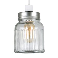 Ribbed 12cm Glass Novelty Pendant Shade
