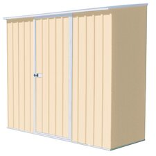 Spacesaver 7.42 ft. W x 2.58 ft. D Metal Lean-To Tool Shed