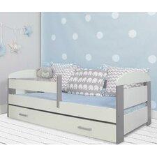 Kinderbett Alice mit Schublade und Matratze, 70 x 140 cm