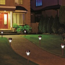 Outdoor Solar 1-Light LED Pathway Light (Set of 6)