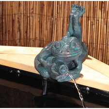 Thomas Frog Liberty Mains Free Woodland Water Spitter Resin Solar Fountain