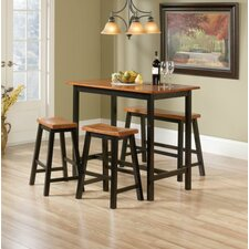 Grey Finish Counter Height Table Set