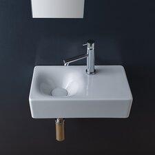 "Cube 17"" Wall Mounted Bathroom Sink"
