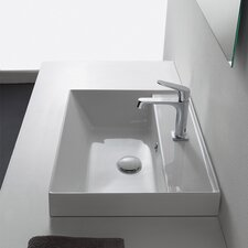 Teorema Rectangular Vessel Bathroom Sink with Overflow