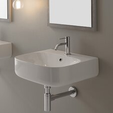 "Moon 20"" Wall Mounted Bathroom Sink with Overflow"
