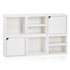 "Connect System Stackable Modular Cubby Organizer 26.8"" Cube Unit Bookcase"