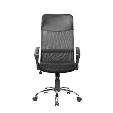 Mesh/PVC High-Back Executive Chair with Seat Height Adjustment and Lumbar Support