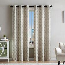 Geometric Room Darkening Grommet Curtain Panels (Set of 2)