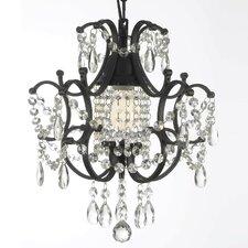 Alvan Wrought Iron 1-Light Crystal Chandelier