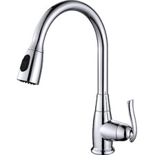 Premium Faucets Single Handle Pull Down Standard Kitchen Faucet