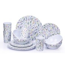 Melamine Willow 16 Piece Dinnerware Set