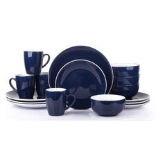 2 Tone 16 Piece Dinnerware Set