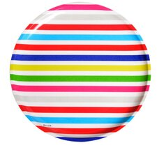 "Poolside Stripe 10.5"" Melamine Dinner Plate (Set of 4)"