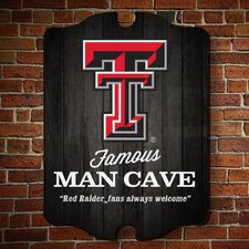NCAA Famous Man Cave Wooden Sign Wall Décor