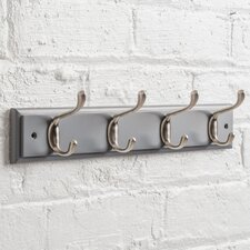 Heritage Wooden Wall Mounted Coat Rack with 4 Hooks