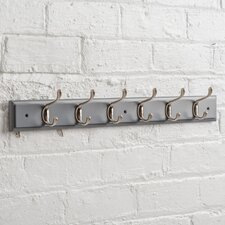 Heritage Wooden Wall Mounted Coat Rack with 6 Hooks