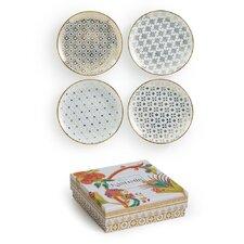 "Kashmir 4 Piece 7"" Appetizer Plate Set"