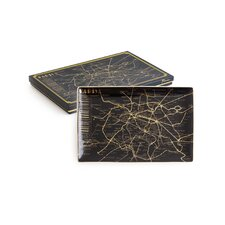 Jazz Age Paris Map Accent Tray