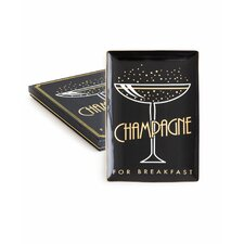 Jazz Age Champage For Breakfast Accent Tray