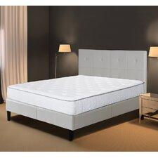 dura metal faux leather wood folding platform bed frame