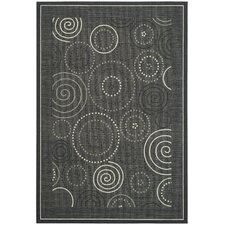 Jada Black/Sand Circle Outdoor Rug