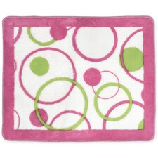 Circles Pink Floor Area Rug