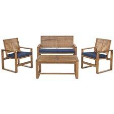 Black Diamond  4 Piece Lounge Seating Group with Cushions