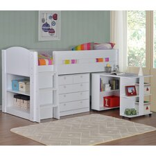 Frankie Single Mid Sleeper Bed with Storage and Desk