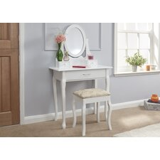 Hessie Dressing Table Set with Mirror