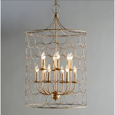 Flores Circle Design 12-Light Candle-Style Chandelier