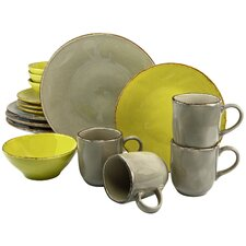 Organic 16 Piece Dinnerware Set with Mug, Service for 4