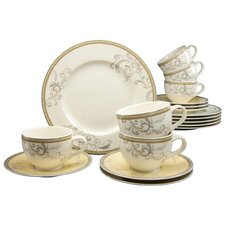 Villi Medici 18 Piece Porcelain Tea Set