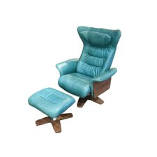 Verra Leather Recliner and Ottoman