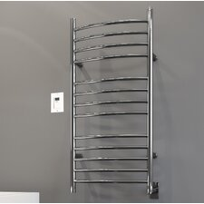 Svelte Rounded Wall Mount Electric Towel Warmer With Timer