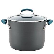8 qt. Non-Stick Covered Hard-Anodized Aluminum Stock Pot