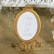 Small Oval Baroque Picture Frame