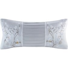 Orchid Embroidery Oblong Lumbar Pillow
