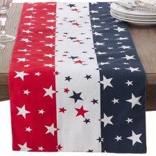 American Flag Cotton Table Runner