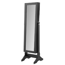 Ava Free Standing Jewellery Armoire with Mirror