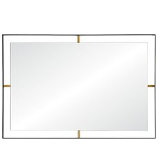 Industrial Rectangle Accent Wall Mirror