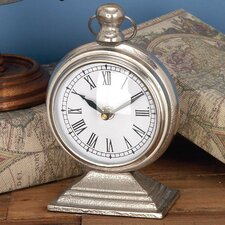Polished Silver Table Clock